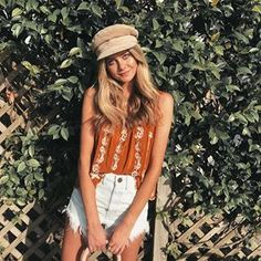 You glow girl ✨ in the Hannah Tank + Wyoming Shorts Casual Outfits, Summer Outfits, Cute Outfits, Spring Summer Fashion, Dress To Impress, Wyoming, Fashion Online, Style Inspiration, Stylish