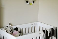 pirates and peonies makes use of our european sized alma papa crib to create a nursery space for her youngest - a smaller footprint than a standard size crib but still suitable to 4 years! Modern Baby Cribs, Wood Crib, Baby Room, Peonies, Small Spaces, Toddler Bed, Bloom, Nursery, Pirates