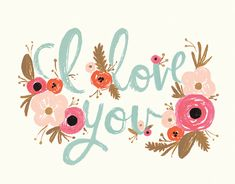 I Love You card by Rifle Paper Co. on Postable.com