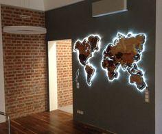 42 bedroom decor for master bedroom decor or boho bedroom KP Design Wood World Map, World Map Decor, World Maps, Deco Design, Wall Design, House Design, Living Room Decor, Bedroom Decor, Master Bedroom