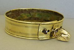 Antique Brass Dog Collar ~ The Hon. George Matthew Fortescue (1791-1877)