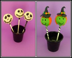 Halloween witch and jack cake pops Halloween Cake Pops, Halloween Treats, Witch, Balls, Witches, Witch Makeup, Wicked, Maleficent, The Witcher