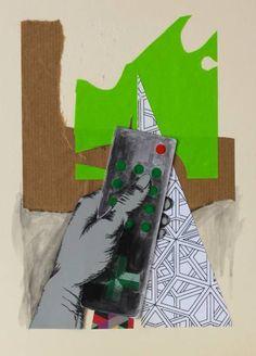 "Saatchi Art Artist Sarah Jayne Bird; Collage, ""Remote Control II"" #art"