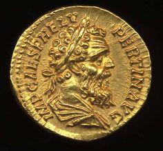 Pertinax was Roman emperor in 193 for 86 days. Publius Helvius Pertinax was born… Rome Antique, Antique Coins, Roman Artifacts, Ancient Artifacts, Ancient Roman Coins, Ancient Rome, 3d Cnc, Coin Art, Gold And Silver Coins