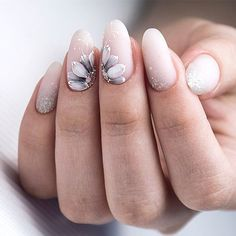 White Matte Nails With Flowers Nude nails are trendy. White Matte Nails With Flowers Nude nails are trendy these days. Discover classy and simple nail designs in nude shades. This nail art is the real beauty. Source by glaminati Elegant Nail Designs, Flower Nail Designs, White Nail Designs, Elegant Nails, Beautiful Nail Designs, Acrylic Nail Designs, Nail Art Designs, Nails With Flower Design, Nails Design