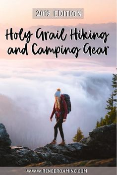 I'm sharing a round-up of my 2019 holy grail hiking and camping gear items... things I now couldn't go without in the backcountry! Find out my favorite gear for hikes, camping trips and small adventures - by Renee Roaming. #Hiking #Camping #Washington #PNW #Washington #GearGuide