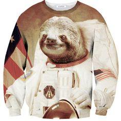 Sloth On The Moon Sweater...hahahahahha