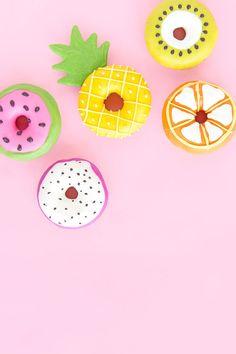 Summer Fruit Slice Donuts