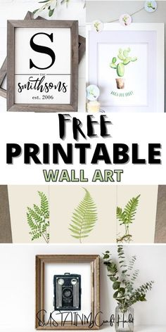 Free printable wall art is the perfect option for adding some unique and interesting art to your space for little to no cost. #sustainmycrafthabit Free Printable Art, Free Printables, Cactus Wall Art, Printable Christmas Cards, Woodland Nursery Decor, Baby Deer, Animal Nursery, Decoration, Wall Art Prints