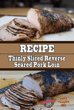 If you haven't yet sunk your teeth in to a mouthwatering reverse seared pork loin, then stop, read through this recipe and video tutorial. Pork Loin Marinade, Bbq Pork Loin, Grilled Pork Loin, Cooking Pork Tenderloin, Pork Rub, Grilled Meat, Grilling Recipes, Pork Recipes, Smoked Pork