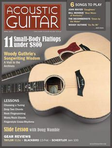 April 2013 Cover Acoustic Guitar Magazine, Bill Monroe, The Decemberists, Blues Rock, Play, Music Instruments, Songs, Learning, Magazine Covers