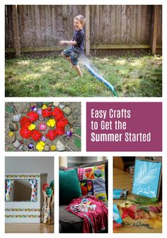 Summer crafts are some of my favorites. We've rounded up 9 of our favorites that we hope will bring your kids lots of fun again and again throughout the summer. Sparkle Stories, Sparkle Crafts, Picnic Blanket, Outdoor Blanket, Summer Crafts, Easy Crafts, How To Get, My Favorite Things, Fun