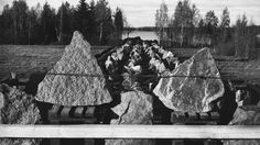 Smart use of natural obstacles: Finnish tank obstacles constructed with big slabs of granite, Mannerheim Line, Karelian Isthmus, 1939. Soviet tanks of that time were not in a position to negotiate such barriers.