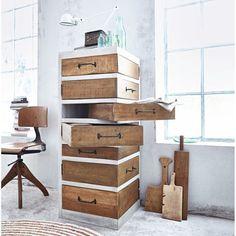 Kommode, Drehschubladen, wiederaufbereitetes Holz Katalogbild
