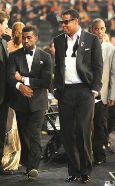 jay & kanye Jay Z Kanye West, Sharp Dressed Man, Well Dressed Men, Beyonce And Jay Z, Celebrity Gallery, Celebrity Crush, Blue Ivy, Music Icon, Business Fashion