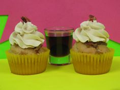 Maple Bacon Cupcake   The second of our meaty-treats is a doozy!  This incredible pancake-cake is baked with bacon pieces, topped with a bacon-brown sugar glaze and a maple buttercream frosting.  That's my kind of breakfast!