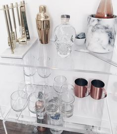 Newest addition to my apartment is creating a Bar Cart. Been obsessed with this concept and love the way it looks! Not finished, but functioning. #DrinkUp #UnlessYoureUnder21 #ThenDont