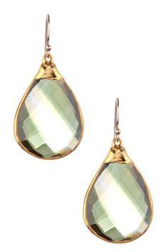 Emerald & Citrine Teardrop Earrings