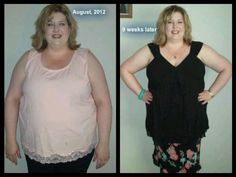 She's gone from a 3X to 1X in shirts and 28 to 22 in pants.  Skinny Fiber is awesome! www.happynhealthy.eatlessfeelfull.com
