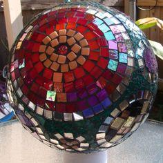 240 Mosaic Spheres Bowling Balls Ideas Mosaic Bowling Ball Art Mosaic Bowling Ball