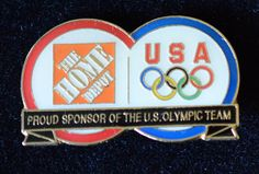 Home Depot Olympic Pin Proud Sponsor