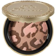 Too Faced Pink Leopard Blushing Bronzer (125 RON) ❤ liked on Polyvore featuring beauty products, makeup, cheek makeup, cheek bronzer, beauty, bronzer, cosmetics, blush and too faced cosmetics