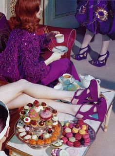 gettibucket:  carmidoll:  Miles Aldridge  Shoes and food both, pls