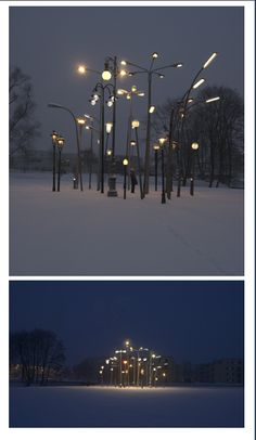 European Street Lamp Forest