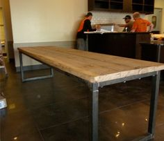 Reclaimed Oak Community Table