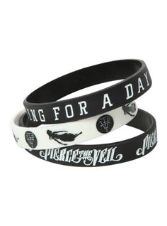 Pierce The Veil King For A Day Rubber Bracelet 3 Pack on Wanelo