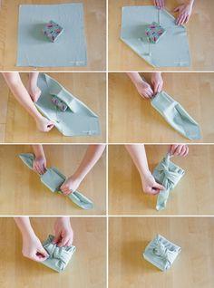 Recycler : emballer ses cadeaux avec du tissu