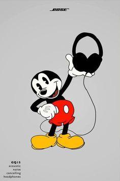 Mickey Mouse for Bose. #creativeadv #adv