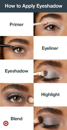 Looking for eye makeup ideas? Try this eyeshadow tutorial. With these makeup tips, it's easy to get a smokey eye, natural eye or bold, colorful looks for blue eyes or brown eyes. Affordable Makeup for Sensitive Skin Makeup Tips For Women In How To Apply Eyeshadow, Eyeshadow Primer, Eyeshadow Ideas, Applying Eyeshadow, Makeup Eyeshadow, Eyeshadow Tutorials, Eyeshadow Palette, Applying Makeup, Blue Eyeshadow