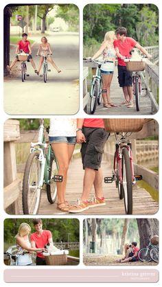 Bike Engagement Session, Fun Bike Engagement session, Mount Dora Florida