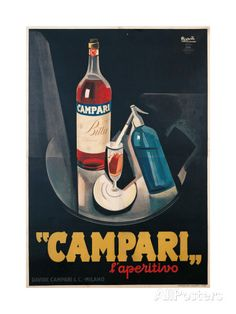 Poster Advertising Campari l'aperitivo Lámina