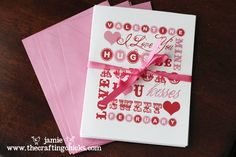 Valentine's Day Word Art and Notecards -- free download