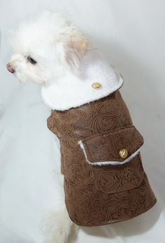 RockinDogs Faux Leather & Sherpa Bomber jacket for dogs available at www.rockindogs.com or Etsy www.rockindogs.etsy.com. Get it while it's HOT! On sale at www.rockindogs.com Use coupon JULY4
