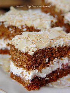 Polish Desserts, Polish Recipes, Sweet Recipes, Cake Recipes, Dessert Recipes, Honey Buns, Sandwich Cake, Cake Cookies, Baked Goods