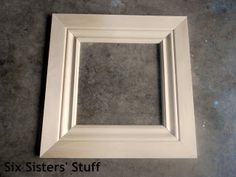 DIY Crown Moulding Picture Frames- Lowe's $50 and Change Project   Six Sisters' Stuff