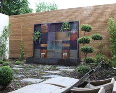 cascata fontana pietra acqua giardino - Google Search