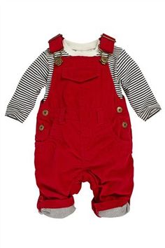 Buy Red Cord Dungarees (0-18mths) from the Next UK online shop