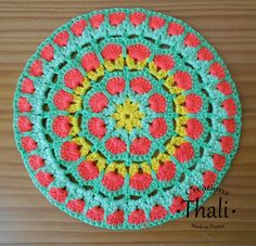 Diagramme Granny Mandala African flower