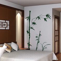 Bamboo Tree Wall Sticker Inspired Family Office Vinyl Removable Mural Decor Gift #Geckoo #Modern