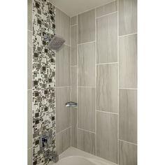 Porcelain wood tile bathroom layout New Ideas Bathroom Layout, Small Bathroom, Master Bathroom, Bathroom Ideas, Shower Ideas, Handicap Bathroom, Master Shower, Bath Shower, Modern Bathroom