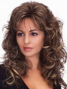 Cheap wig tip, Buy Quality costume wigs for sale directly from China wig photography Suppliers: hot ombre wigs synthetic wig long peruca brown fluffy long curly wig cosplay hair heat resistant synthetic wigs for black women Curly Hair With Bangs, Short Curly Hair, Hairstyles With Bangs, Trendy Hairstyles, Braid Hairstyles, Medium Length Wavy Hair, Blonde Hairstyles, Frizzy Hair, Celebrity Hairstyles