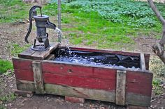 Making a Trough Fountain from an Antique Water Pump