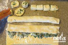 Milföylü Ispanaklı Rulo Börek - Nefis Yemek Tarifleri