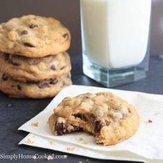 """Walnut Chocolate Chip Cookies - Simply Home Cooked Copycat """"The Cookie"""" at Metropolitan Market Delicious Chocolate, Chocolate Flavors, Chocolate Chip Walnut Cookies, Chocolate Chips, Chocolate Lava, Cookie Recipes, Dessert Recipes, Yummy Recipes, Recipies"""