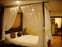 Four Poster Bed Canopy Ideas bed with baldachin | home decor ideas! | pinterest | bedrooms