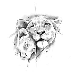 Family Tattoo Designs, Lion Tattoo Design, Sketch Tattoo Design, Tattoo Sketches, Art Sketches, Leo Tattoos, Baby Tattoos, Animal Tattoos, Pencil Drawings Of Animals